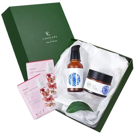 Set Quà Tặng Đặc Biệt Gồm Kem dưỡng hoa thanh cúc All Natural + Tinh chất hoa thanh cúc All Natural + Hộp quà