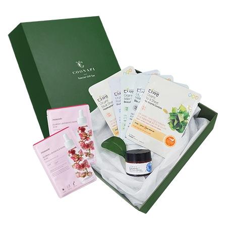 Set Quà Tặng Đặc Biệt Gồm Kem dưỡng hoa thanh cúc All Natural + 5 mặt nạ hữu cơ All Natural (tùy chọn) + Hộp quà