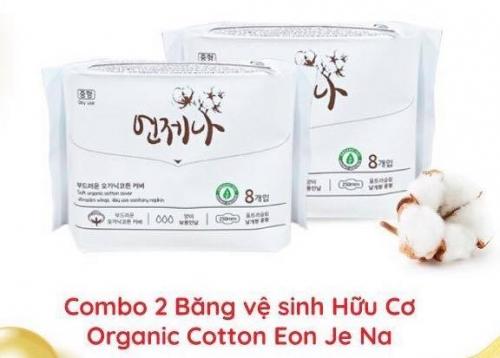 Combo 2 Băng Vệ Sinh Ban Đêm Hữu Cơ Organic Cotton Eon Je Na